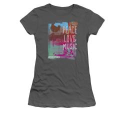 Image for Woodstock Girls T-Shirt - Peace Love Music