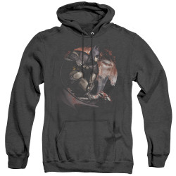 Image for Arkham City Heather Hoodie - Blood Moon