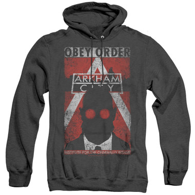 Image for Arkham City Heather Hoodie - Obey Order Poster