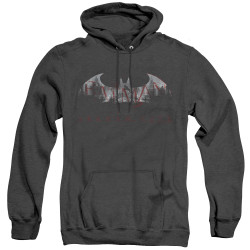 Image for Arkham City Heather Hoodie - Bat Fill