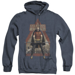 Image for Arkham City Heather Hoodie - Arkham Robin