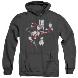 Image for Batman Heather Hoodie - Harley And Joker