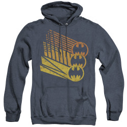 Image for Batman Heather Hoodie - Bat Signal Shapes