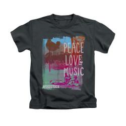 Image for Woodstock Kids T-Shirt - Peace Love Music