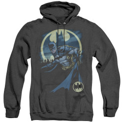 Image for Batman Heather Hoodie - Heed The Call