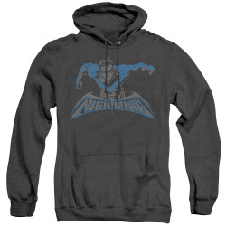Image for Batman Heather Hoodie - Wing Of The Night