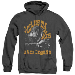 Image for Miles Davis Heather Hoodie - Jazz Legend