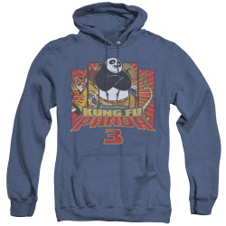 Image for Kung Fu Panda Heather Hoodie - Kung Furry
