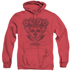 Image for CBGB Heather Hoodie - Moth Skull