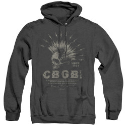 Image for CBGB Heather Hoodie - Electric Skull
