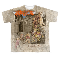 Image for Aerosmith Sublimated Youth T-Shirt Toys in the Attic