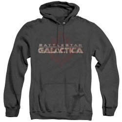 Image for Battlestar Galactica Heather Hoodie - Logo with Phoenix