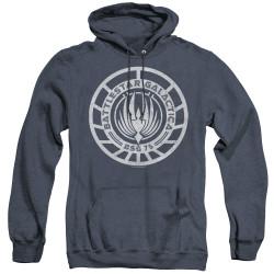 Image for Battlestar Galactica Heather Hoodie - Scratched BSG Logo