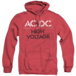 Image for AC/DC Heather Hoodie - High Voltage Stencil