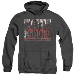 Image for Suicide Squad Heather Hoodie - Black and White and Red All Over