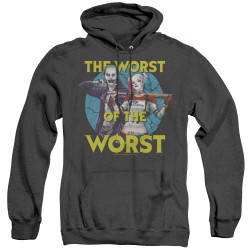 Image for Suicide Squad Heather Hoodie - Worst Pair