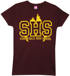 Image Closeup for Buffy the Vampire Slayer Sunnydale High School Girls Shirt