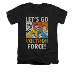 Image for Voltron V-Neck T-Shirt Let's Go