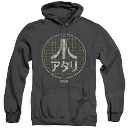 Image for Atari Heather Hoodie - Green Grid Kanji Logo