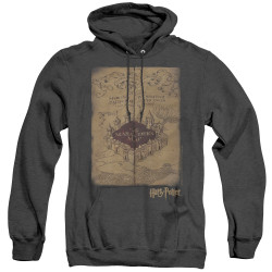 Image for Harry Potter Heather Hoodie - Marauder's Map