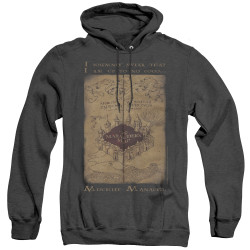 Image for Harry Potter Heather Hoodie - Maruader's Map Words