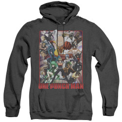 Image for One Punch Man Heather Hoodie - Cast of Characters