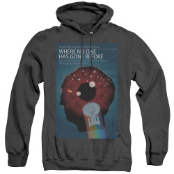 Image for Star Trek the Next Generation Juan Ortiz Episode Poster Heather Hoodie - Season 1 Ep. 6 Where No One Has Gone Before on Black