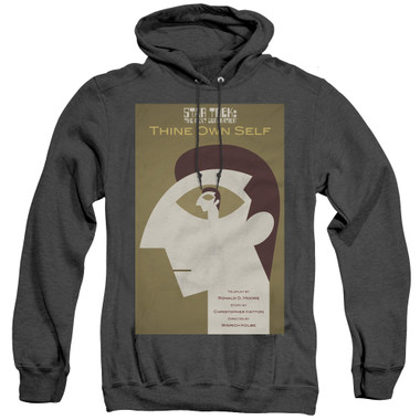 Image for Star Trek the Next Generation Juan Ortiz Episode Poster Heather Hoodie - Season 7 Ep. 16 Thine Own Self on Black