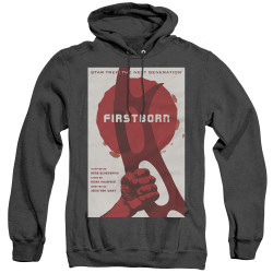 Image for Star Trek the Next Generation Juan Ortiz Episode Poster Heather Hoodie - Season 7 Ep. 21 Firstborn on Black