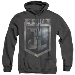 Image for Justice League Movie Heather Hoodie - Shield Logo
