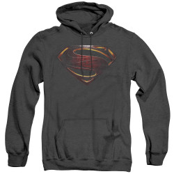 Image for Justice League Movie Heather Hoodie - Superman Logo