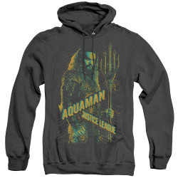 Image for Justice League Movie Heather Hoodie - Aquaman