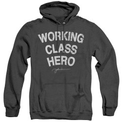 Image for John Lennon Heather Hoodie - Working Class Hero