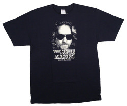 Image Closeup for Big Lebowski T-Shirt - The Dude Abides