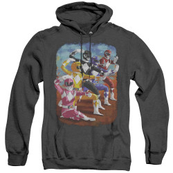 Image for Mighty Morphin Power Rangers Heather Hoodie - Impressionist Rangers