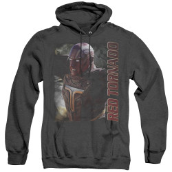 Image for Supergirl Heather Hoodie - Red Tornado