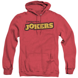 Image for Impractical Jokers Heather Hoodie - Red Logo