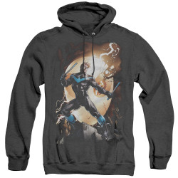 Image for Batman Heather Hoodie - Nightwing Against Owls