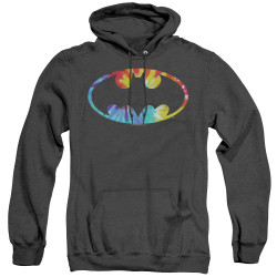 Image for Batman Heather Hoodie - Tie Dye Logo