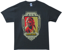 Image Closeup for Big Lebowski T-Shirt - Dude Abides Crest