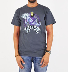 Image for Masters of the Universe Heather T-Shirt - Skeletor