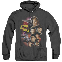 Image for Star Trek Heather Hoodie - The Classic Crew