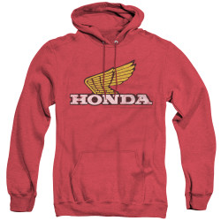 Image for Honda Heather Hoodie - Yellow Wing Logo