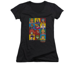 Image for Masters of the Universe Girls V Neck T-Shirt - Character Heads