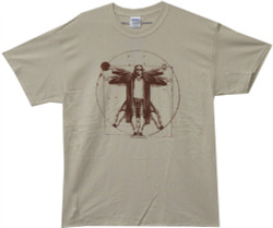 Image Closeup for Big Lebowski T-Shirt - Vitruvian Dude