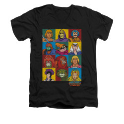 Image for Masters of the Universe V-Neck T-Shirt Character Heads