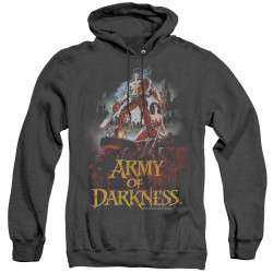 Image for Army Of Darkness Heather Hoodie - Bloody Poster