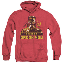 Image for Rocky Heather Hoodie - Rocky IV I Must Break You