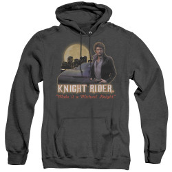 Image for Knight Rider Heather Hoodie - Full Moon