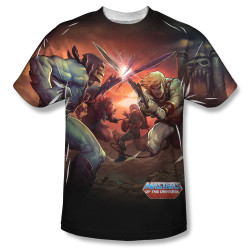 Image for Masters of the Universe Sublimated T-Shirt - Battle 100% Polyester